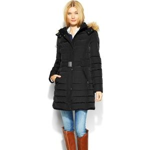 Tommy Hilfiger Belted Long Down Coat Jacket